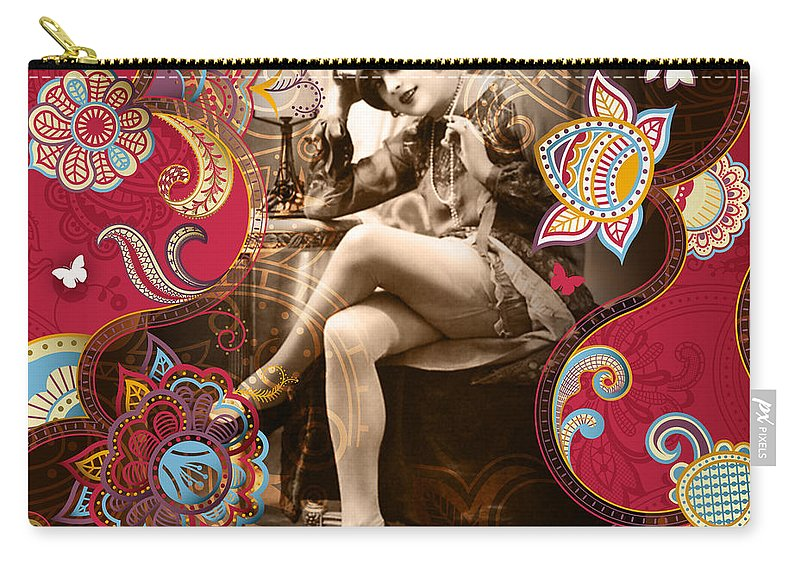 Erotic Carry-all Pouch featuring the photograph Goddess by Chris Andruskiewicz