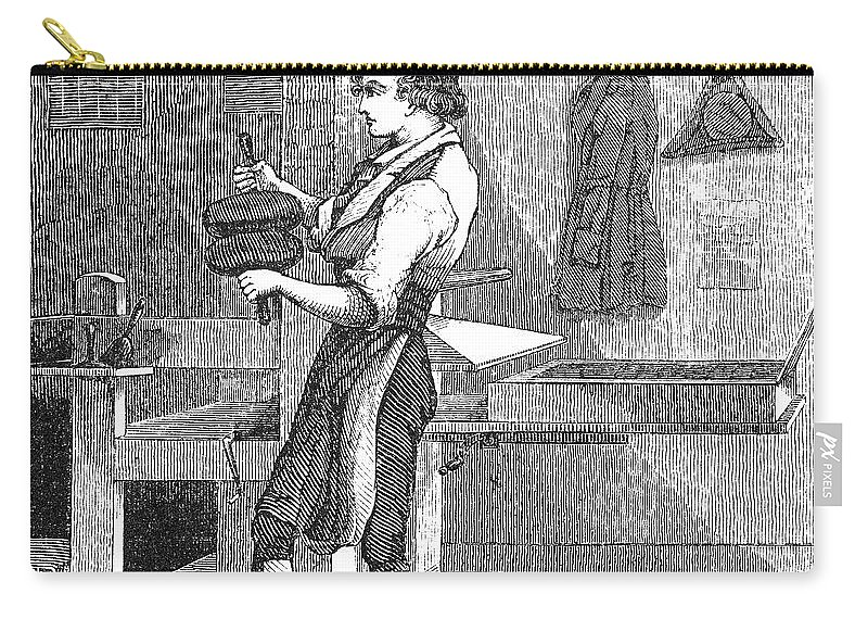 18th Century Carry-all Pouch featuring the photograph Benjamin Franklin (1706-1790) by Granger
