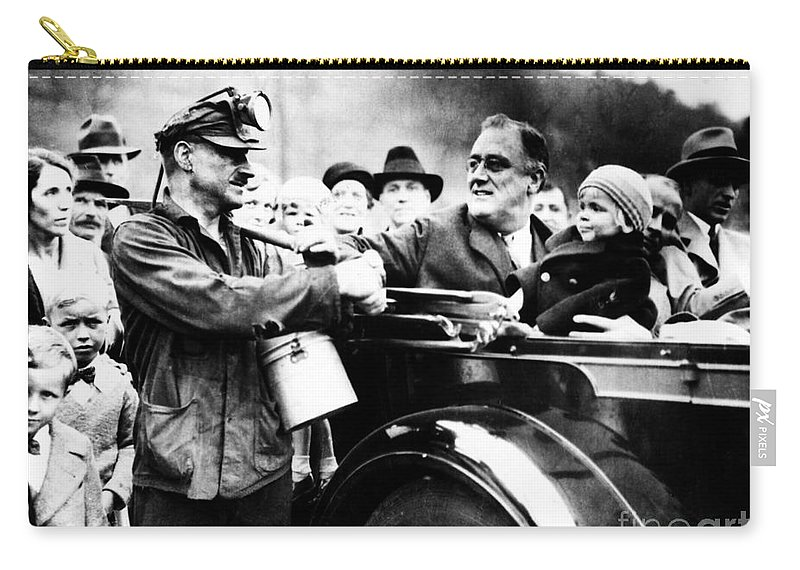 1932 Carry-all Pouch featuring the photograph Franklin D. Roosevelt by Granger