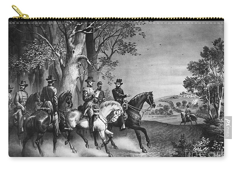 1865 Carry-all Pouch featuring the photograph Lees Surrender, 1865 by Granger