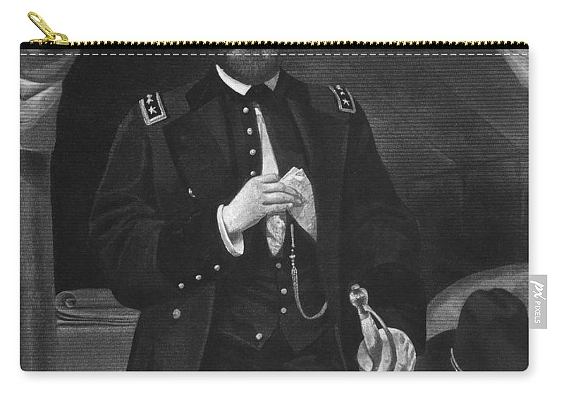 19th Century Carry-all Pouch featuring the photograph Ulysses S. Grant by Granger