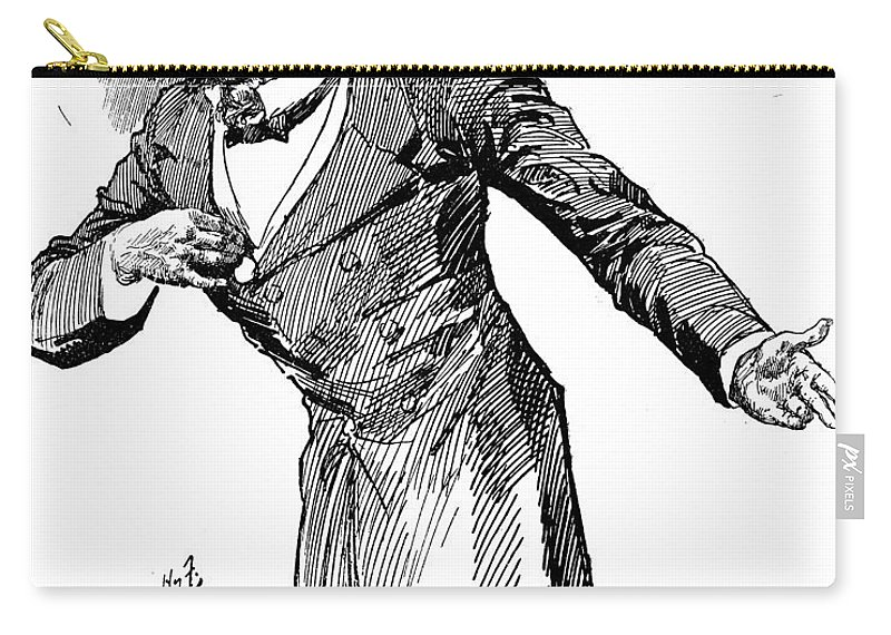19th Century Carry-all Pouch featuring the photograph Benjamin Disraeli (1804-1881) by Granger