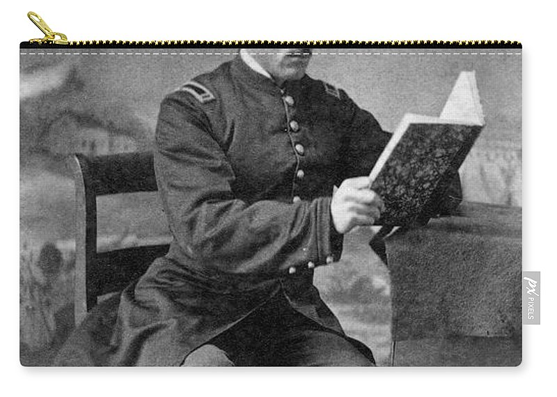 America Carry-all Pouch featuring the photograph Civil War: Union Soldier by Granger