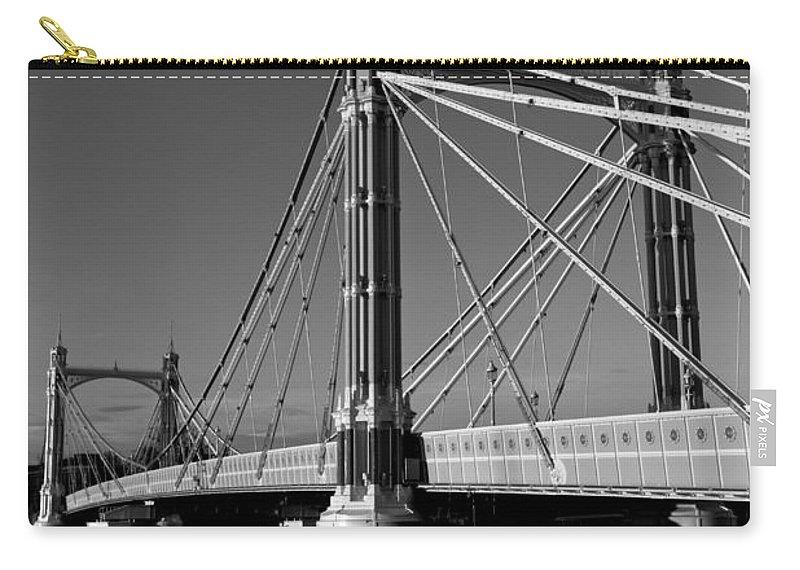 Albert Bridge Carry-all Pouch featuring the photograph The Albert Bridge London by David Pyatt