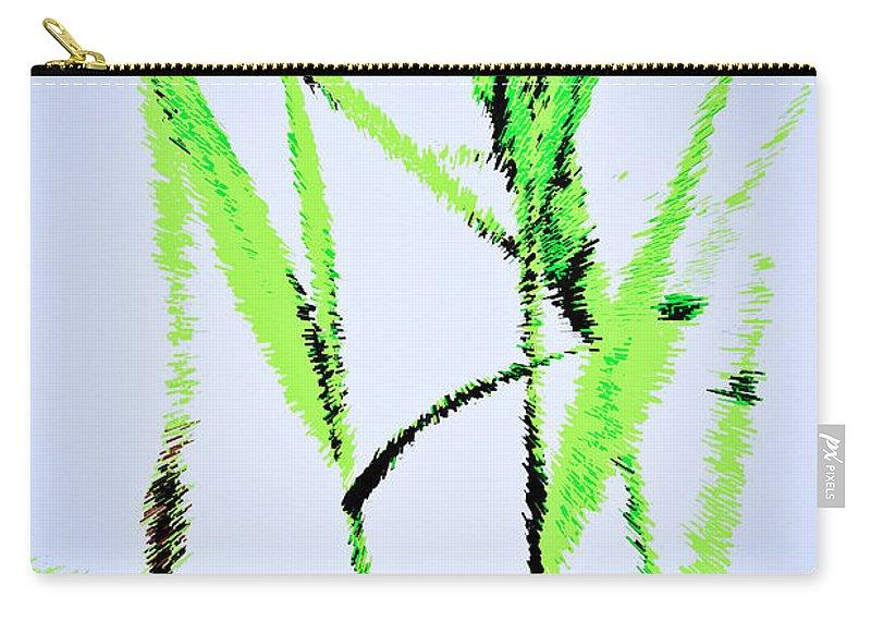 Monet Carry-all Pouch featuring the digital art Water Reed Digital Art by David Pyatt
