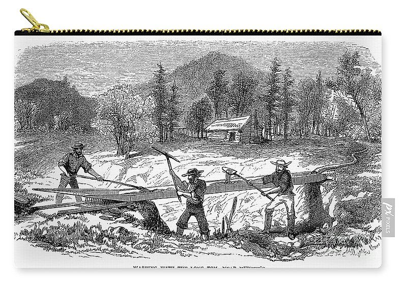 1850s Carry-all Pouch featuring the photograph California Gold Rush by Granger