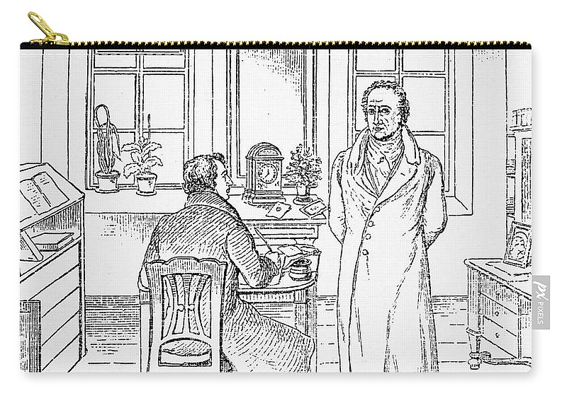 1831 Carry-all Pouch featuring the photograph Johann Goethe (1749-1832) by Granger