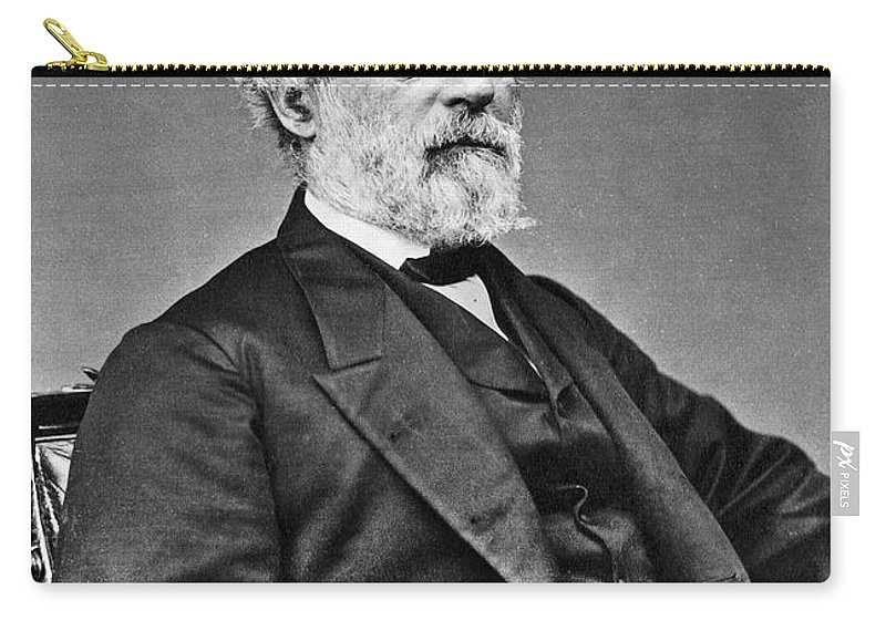 19th Century Carry-all Pouch featuring the photograph Robert E. Lee (1807-1870) by Granger