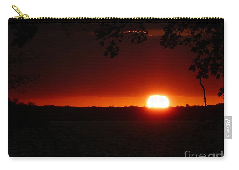 Nature Carry-all Pouch featuring the photograph Sunset by Judi Deziel