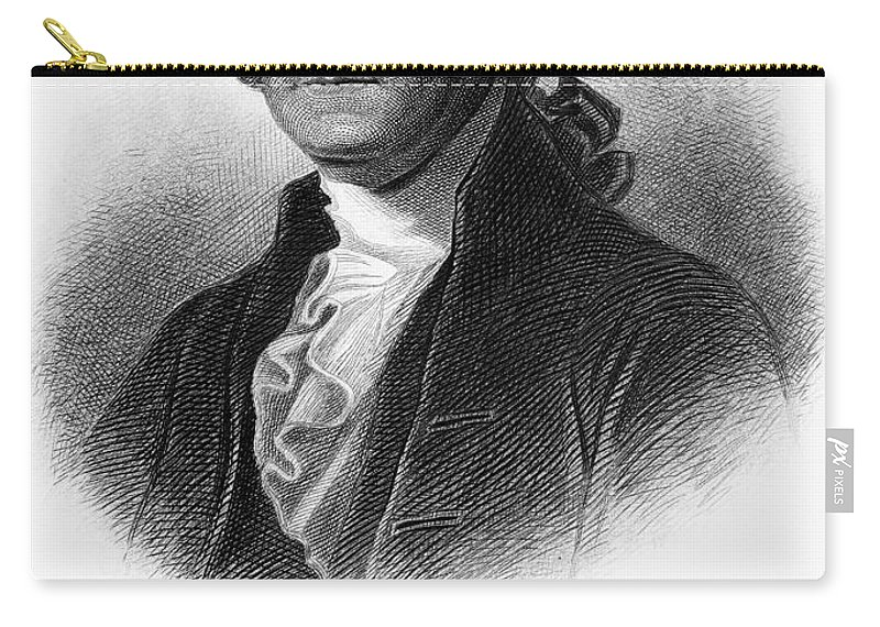 18th Century Carry-all Pouch featuring the photograph George Washington by Granger