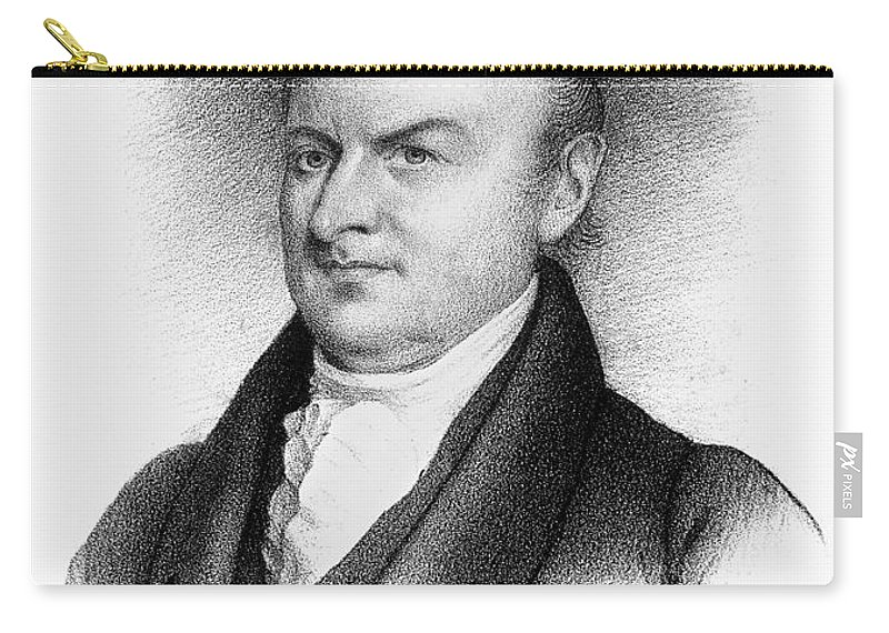 19th Century Carry-all Pouch featuring the photograph John Quincy Adams by Granger