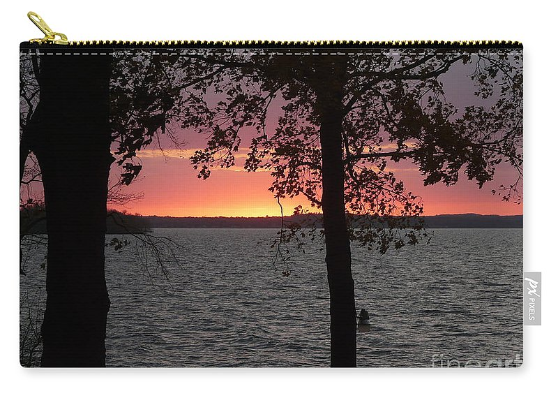 Sunset Carry-all Pouch featuring the photograph Sunset by Judi Deziel