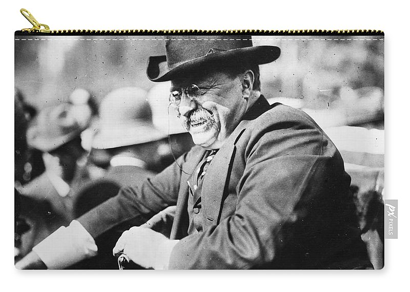 1910 Carry-all Pouch featuring the photograph Theodore Roosevelt by Granger