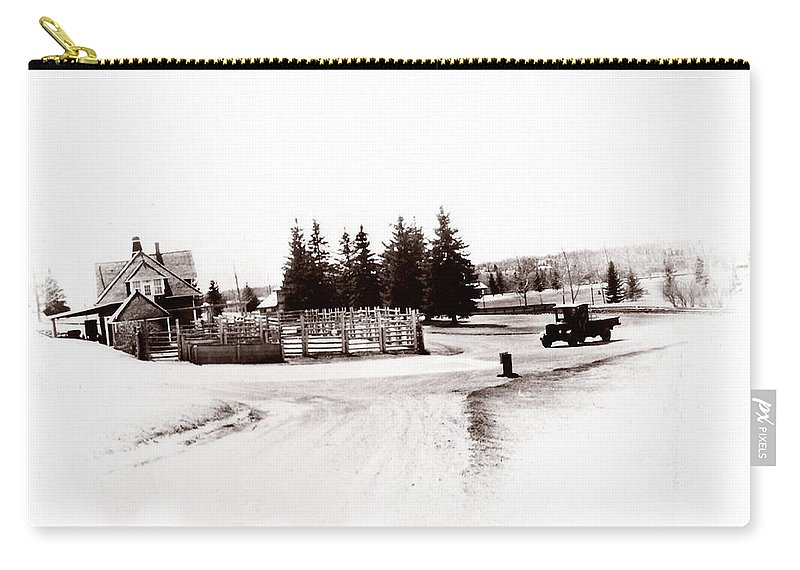Farm Carry-all Pouch featuring the photograph 1900 Farm by Marcin and Dawid Witukiewicz