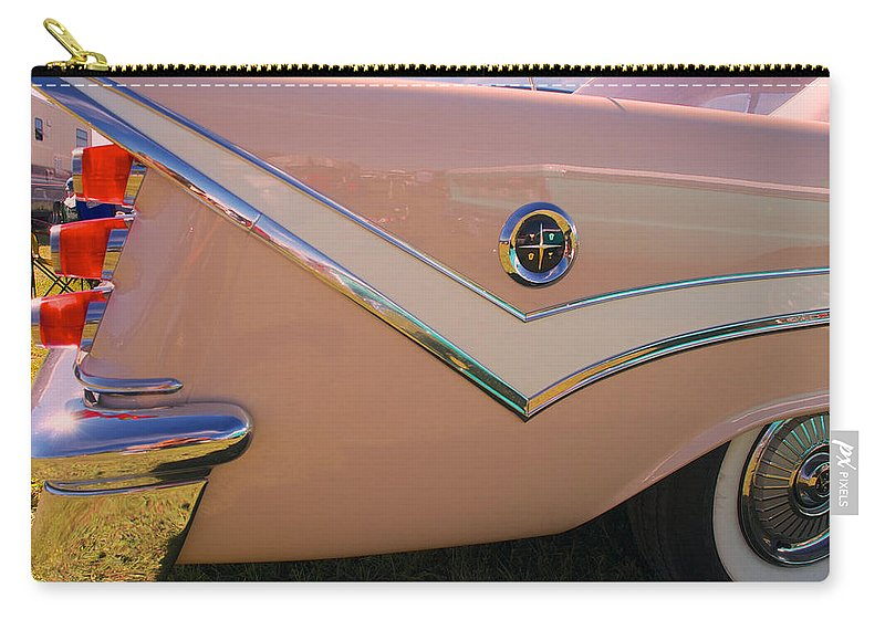 1929 Desoto Firefly Convertable Carry-all Pouch featuring the photograph 1929 Desoto Firefly Convertable by Mark Dodd