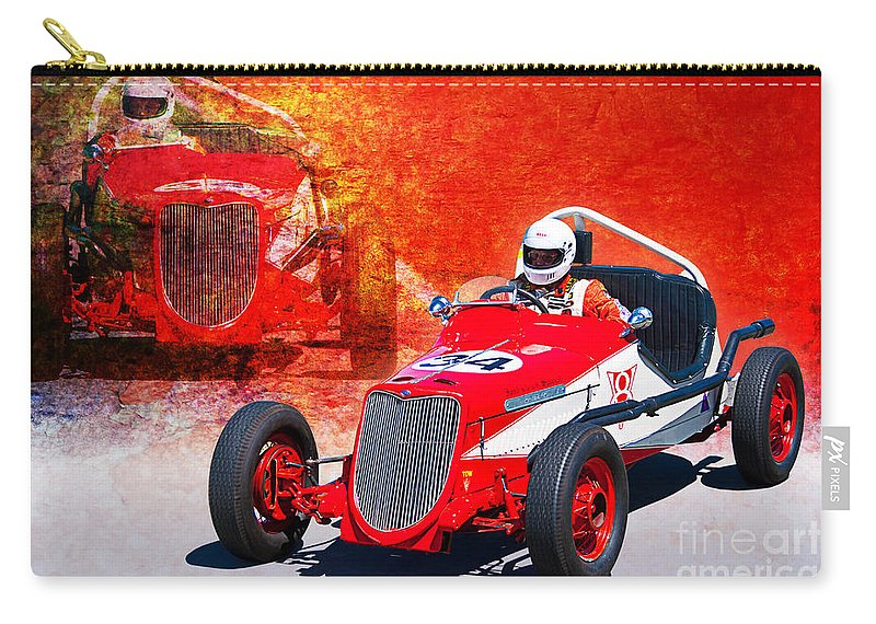 1934 Carry-all Pouch featuring the photograph 1934 Ford Indy Special by Stuart Row