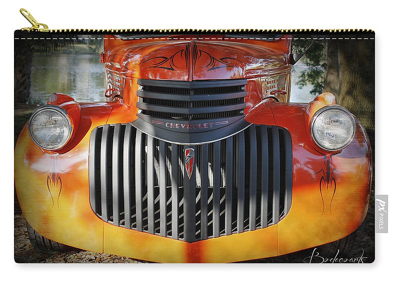 1930s Carry-all Pouch featuring the photograph 1936 Chevrolet Pickup Truck by Robin Lewis