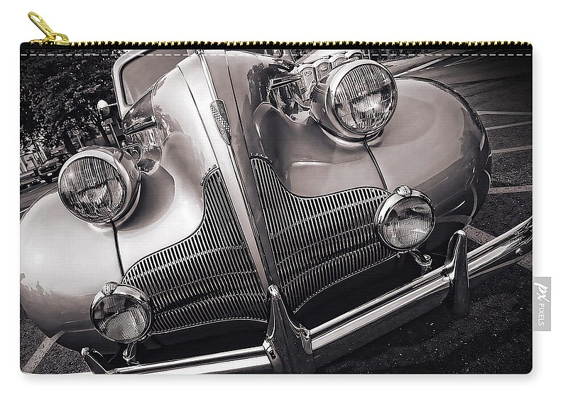 1939 Carry-all Pouch featuring the photograph 1939 Buick Eight by Gordon Dean II