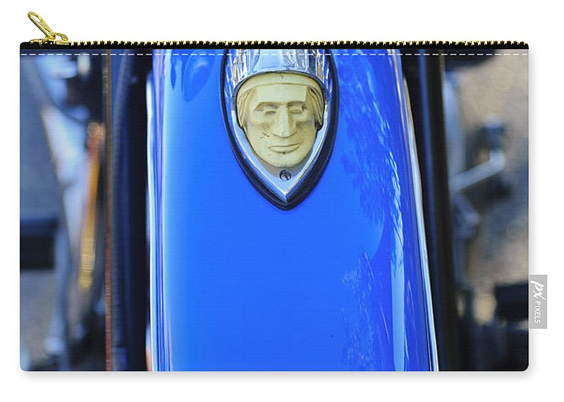 1948 Indian Chief Motorcycle Carry-all Pouch featuring the photograph 1948 Indian Chief Motorcycle Fender by Jill Reger