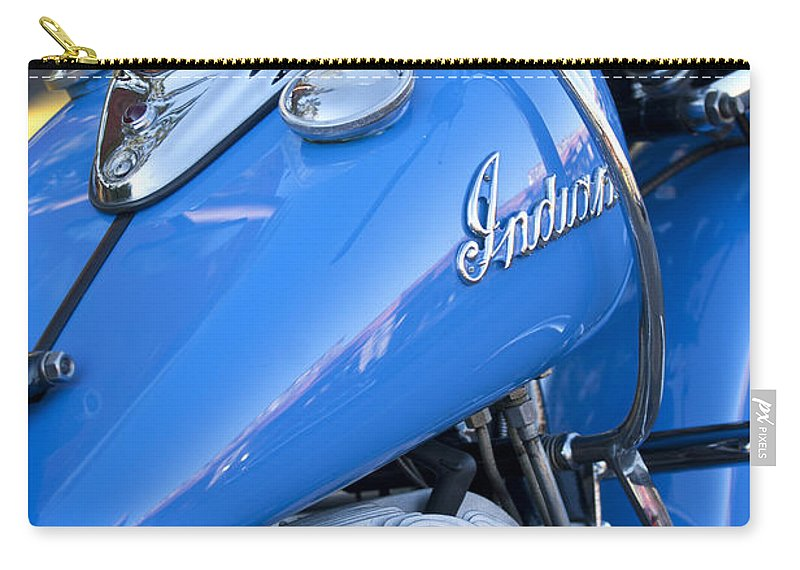 1948 Indian Chief Motorcycle Carry-all Pouch featuring the photograph 1948 Indian Chief Motorcycle by Jill Reger