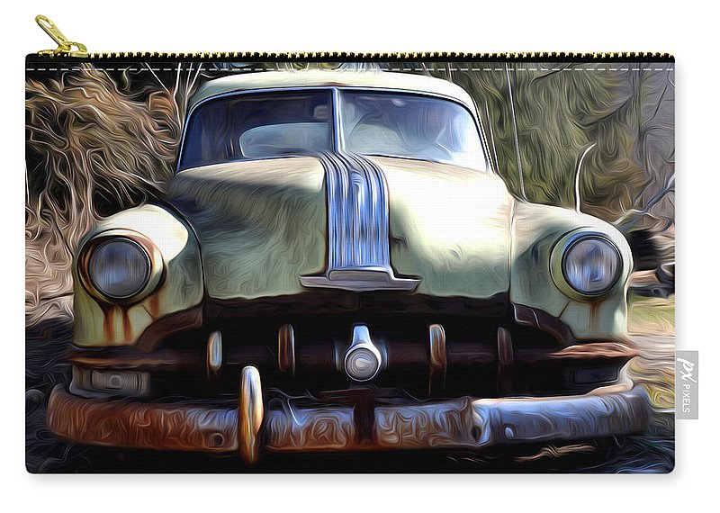 1950 Pontiac Silver Streak 8 Carry-all Pouch featuring the photograph 1950 Pontiac by Bill Cannon