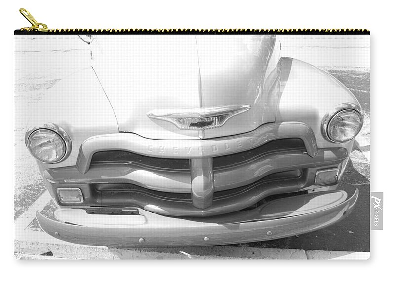 Chevrolet Carry-all Pouch featuring the photograph 1950's Chevy by Rob Hans