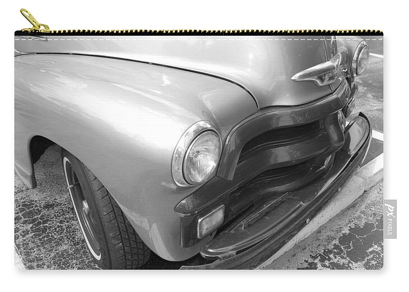Chevrolet Carry-all Pouch featuring the photograph 1950's Chevy Truck by Rob Hans