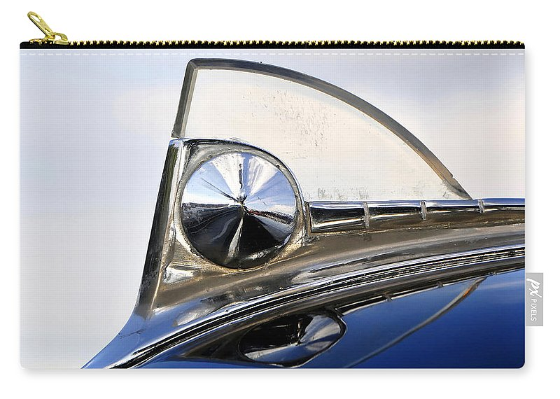 Fine Art Photography Carry-all Pouch featuring the photograph 1950s Ford Hood by David Lee Thompson