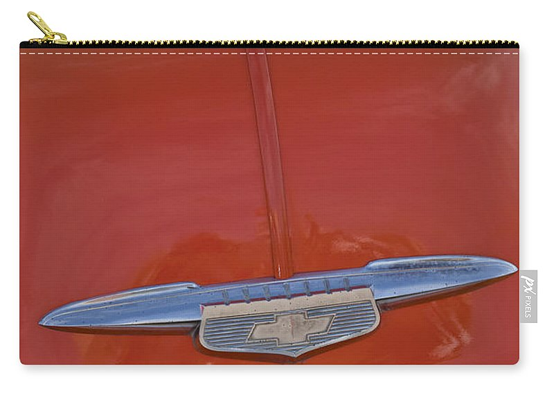 1951 Chevrolet Sedan Delivery Carry-all Pouch featuring the photograph 1951 Chevrolet Sedan Delivery Hood Ornament by Jill Reger