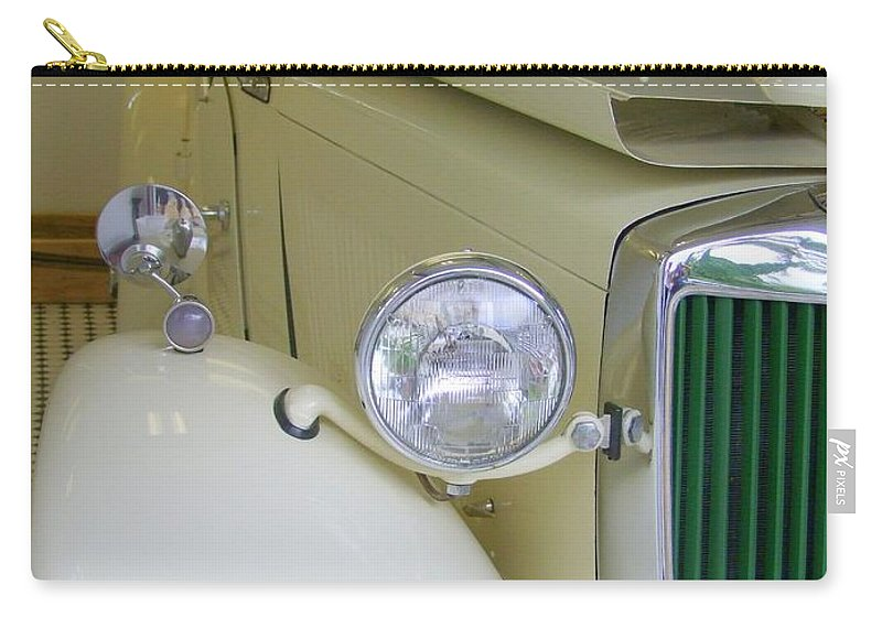 1952 Md Roadster Carry-all Pouch featuring the photograph 1952 Mg Roadster Side View by Mary Deal
