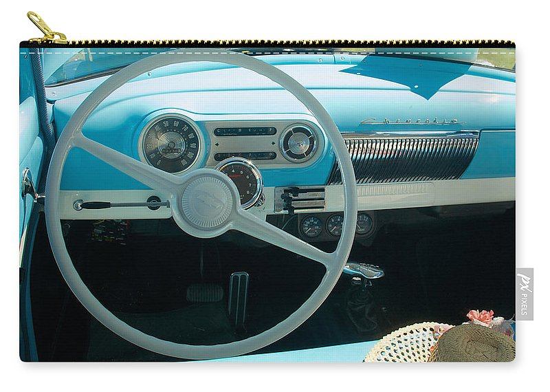 1954 Chevy Flo Abel Carry-all Pouch featuring the photograph 1954 Chevy Flo Abel by Mark Dodd