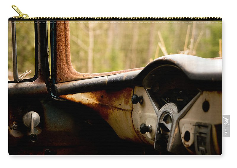 1956 Chevy Carry-all Pouch featuring the photograph 1956 Chevy Inside by Cale Best