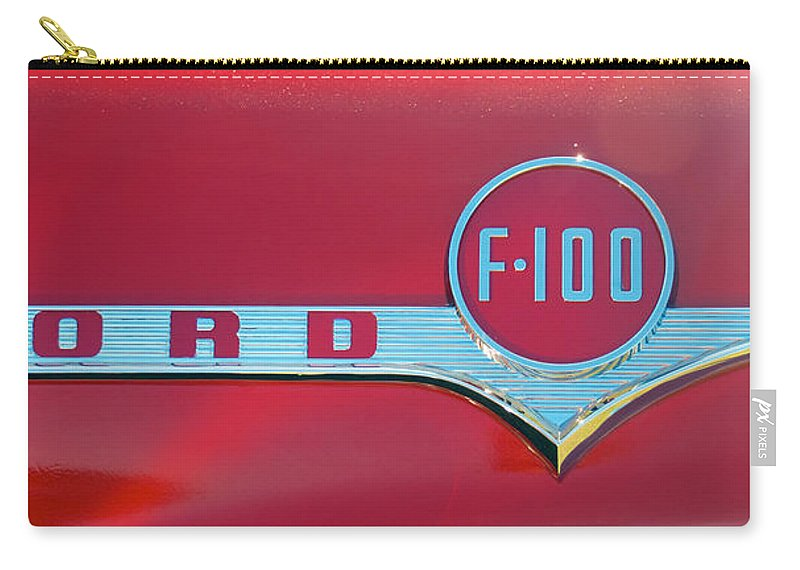 1956 Ford F100 Carry-all Pouch featuring the photograph 1956 Ford F100 by Mark Dodd