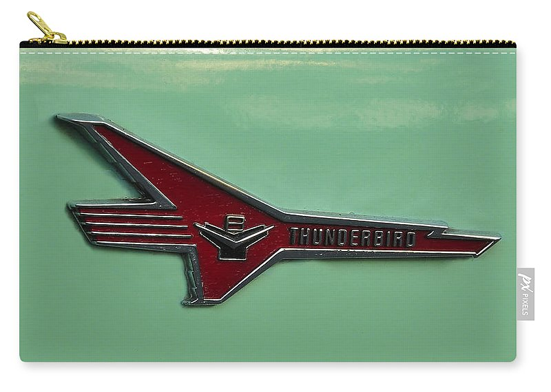 Fine Art Photography Carry-all Pouch featuring the photograph 1956 T Bird by David Lee Thompson