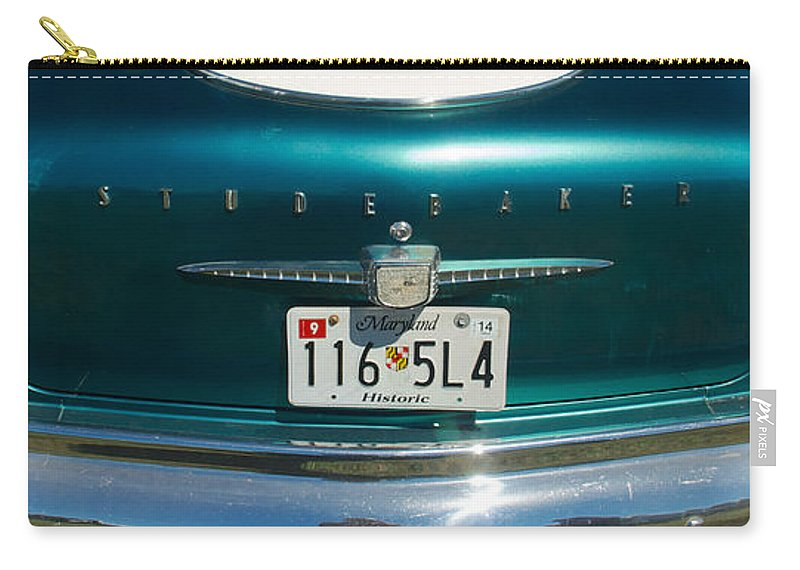 1958 Studebaker Carry-all Pouch featuring the photograph 1958 Studebaker by Mark Dodd