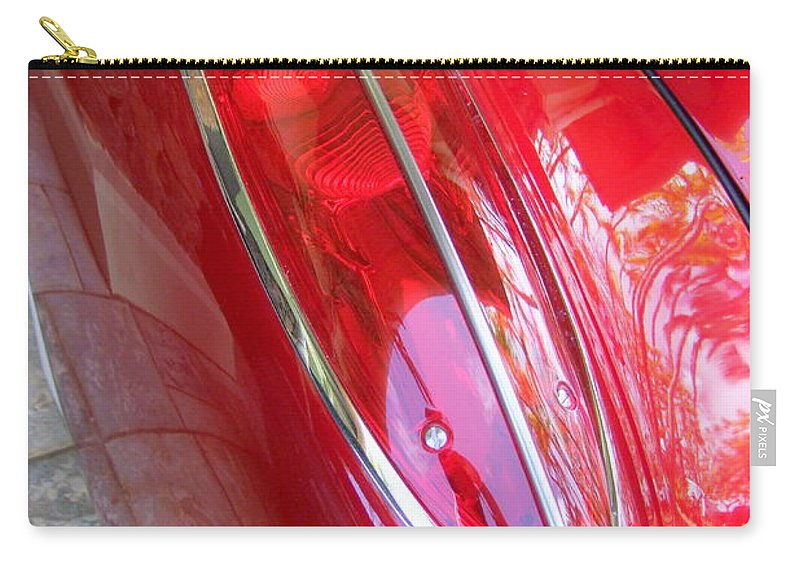 Corvette Carry-all Pouch featuring the photograph 1960 Chevrolet Corvette Tail Light by Mary Deal