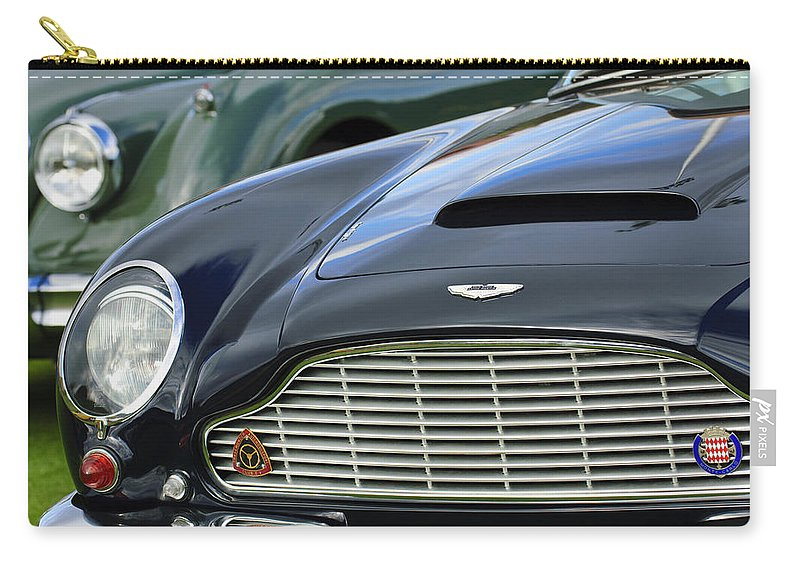 1965 Aston Martin Db6 Short Chassis Volante Carry-all Pouch featuring the photograph 1965 Aston Martin Db6 Short Chassis Volante by Jill Reger
