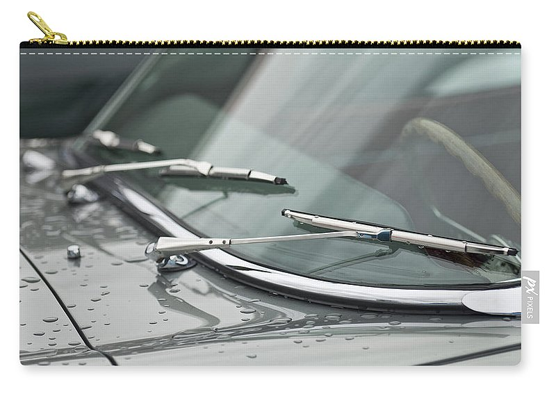 1965 Jaguar E-type Roadster Carry-all Pouch featuring the photograph 1965 Jaguar E-type Roadster Wipers by Jill Reger
