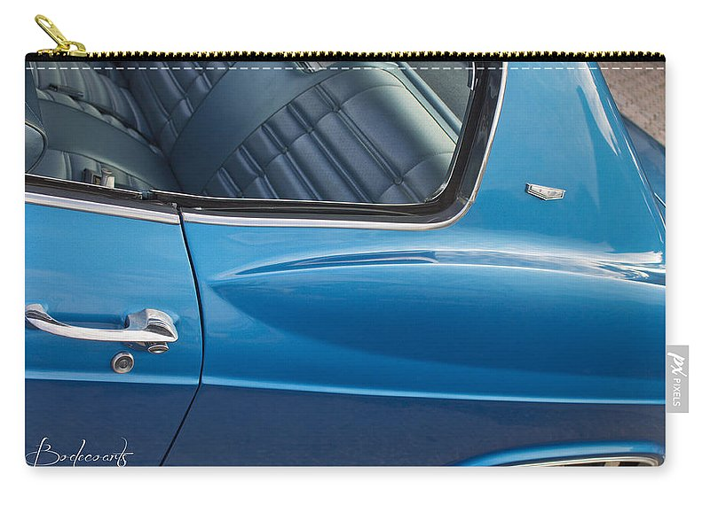 Cool Carry-all Pouch featuring the photograph 1966 Chevy Caprice Chevrolet Back Clip by Robin Lewis