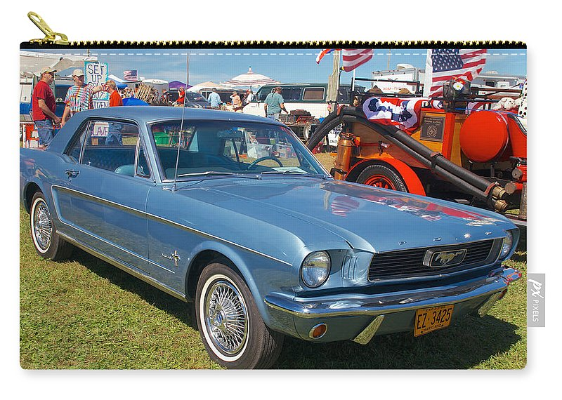 1966 Mustang Carry-all Pouch featuring the photograph 1966 Mustang by Mark Dodd