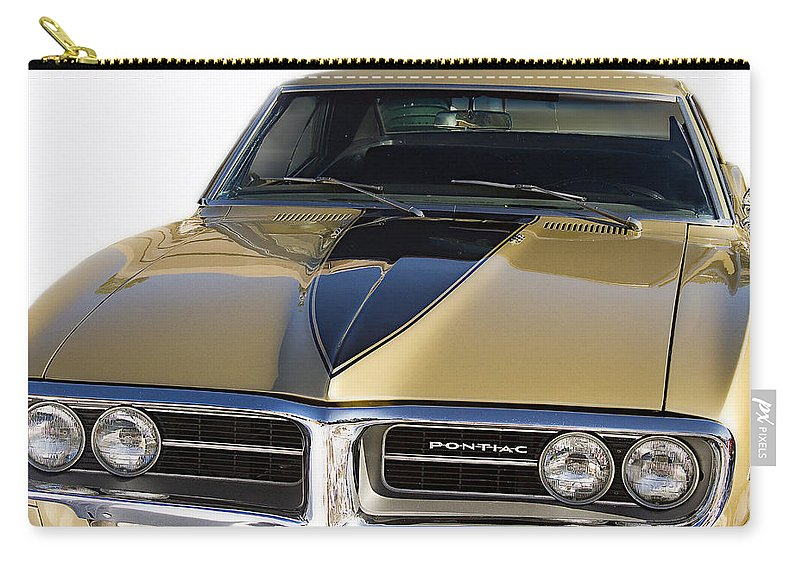 Emblem Carry-all Pouch featuring the photograph 1967 Bronze Pontiac Firebird by James BO Insogna