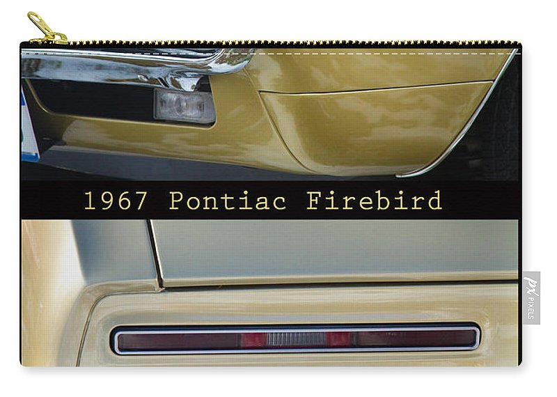 1967 Carry-all Pouch featuring the photograph 1967 Bronze Pontiac Firebird Poster S by James BO Insogna