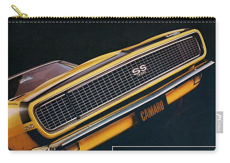 1967 Carry-all Pouch featuring the digital art 1967 Camaro Ss by Digital Repro Depot
