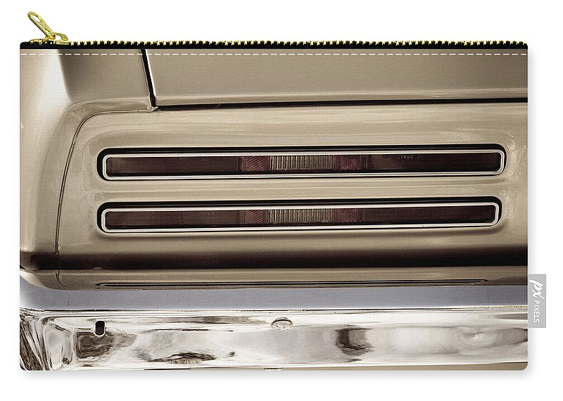 Automobiles Carry-all Pouch featuring the photograph 1967 Pontiac Firebird Back Lights Close Up by James BO Insogna