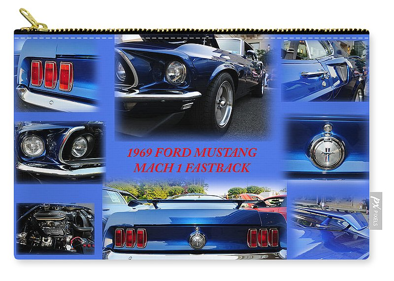 1969 Ford Mustang Mach 1 Fastback Carry-all Pouch featuring the photograph 1969 Ford Mustang Mach 1 Fastback by Paul Ward