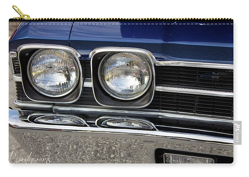 Cool Carry-all Pouch featuring the photograph 1970 Chevrolet Chevelle Antique Show Car by Robin Lewis
