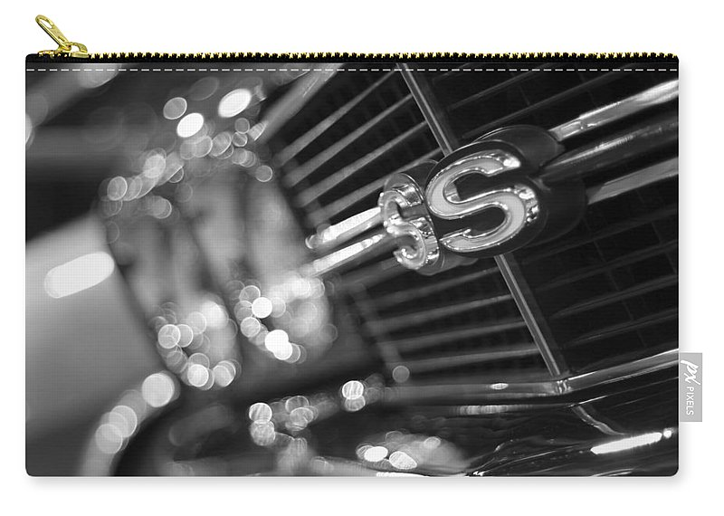 1970 Carry-all Pouch featuring the photograph 1970 Chevy Chevelle Ss 396 Black And White by Gordon Dean II