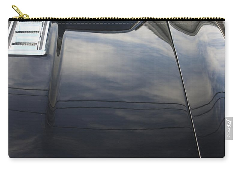 Hood Scoop Carry-all Pouch featuring the photograph 1970s Chevrolet Camaro by Robin Lewis