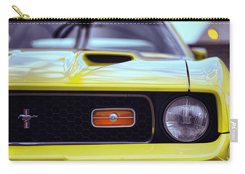 1972 Carry-all Pouch featuring the photograph 1972 Ford Mustang Mach 1 by Gordon Dean II
