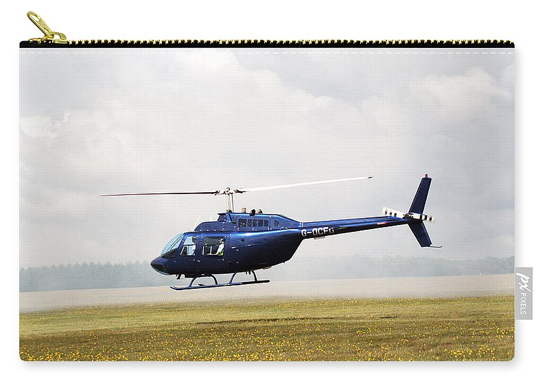 Textron Bell Carry-all Pouch featuring the photograph 1980 Bell Helicopter Textron Bell 206b by Chris Day